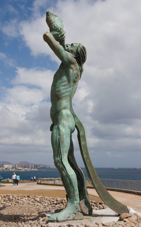 Triton Child of Poseidon and Amphitrite Statue Spain