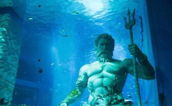 Dive Sites Greek God Statues Underwater