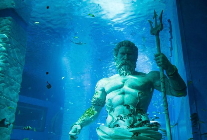 Dive Sites Greek God Statues Underwater