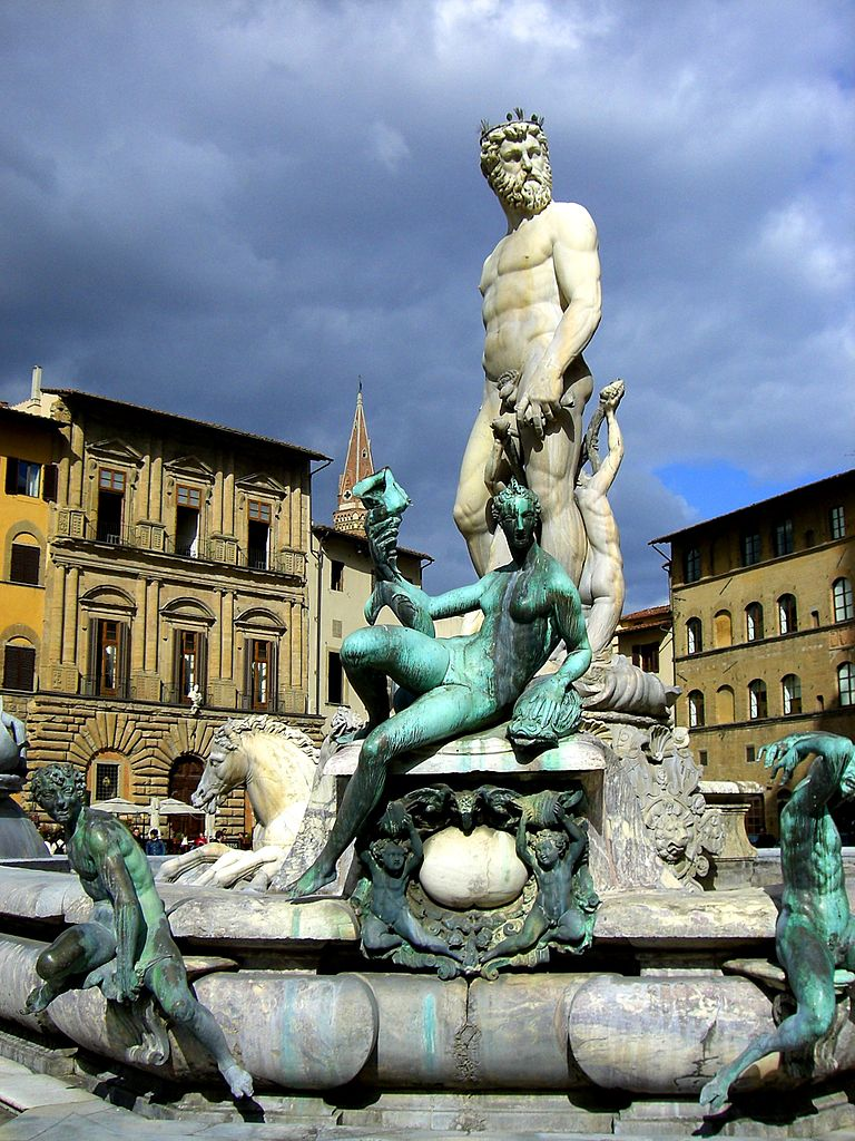 Fountain of Neptune Florence Italy