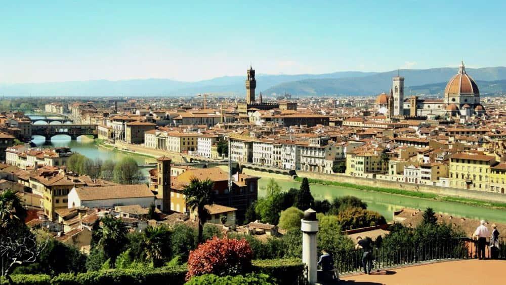 Florence River Arno Uffizi Gallery Italy