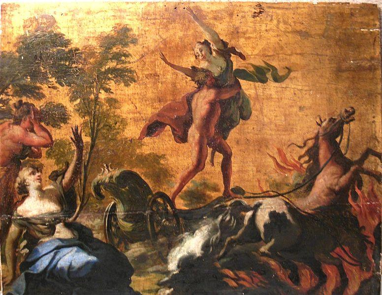 Hades abducting Persephone Chariot Scene