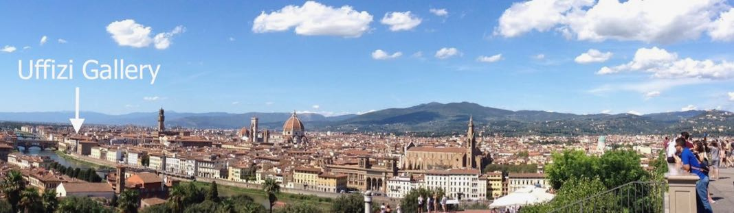 Uffizi Gallery viewed from Piazzale Michelangelo Florence