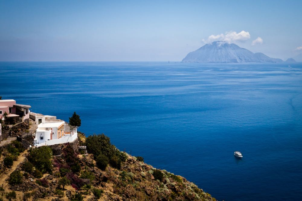 Alicudi Aeolian Island View to Filicudi