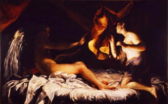 Cupid and Psyche Painting Uffizi Gallery Museum Florence