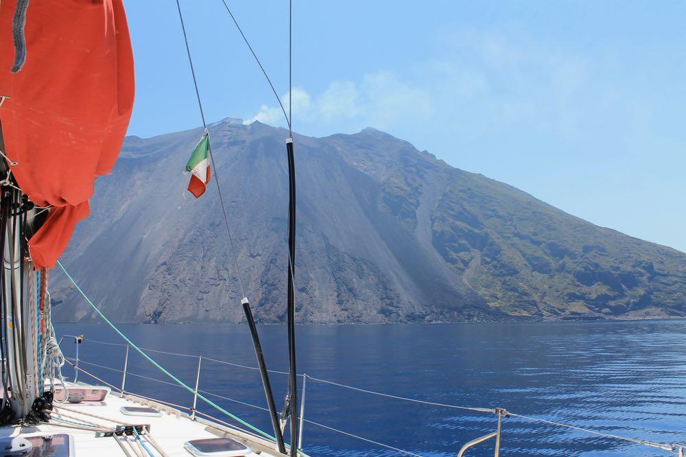 Sailing to Stromboli Island