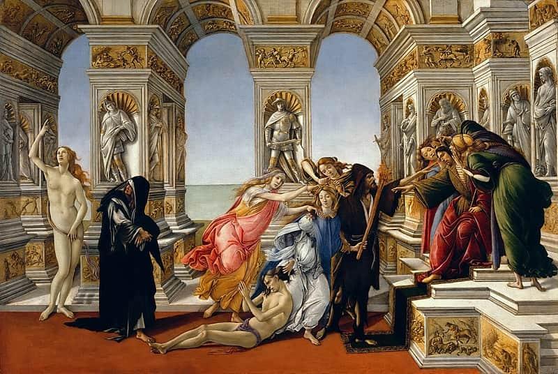 Sandro Botticelli Uffizi Gallery Masterpiece Calumny of Apelles