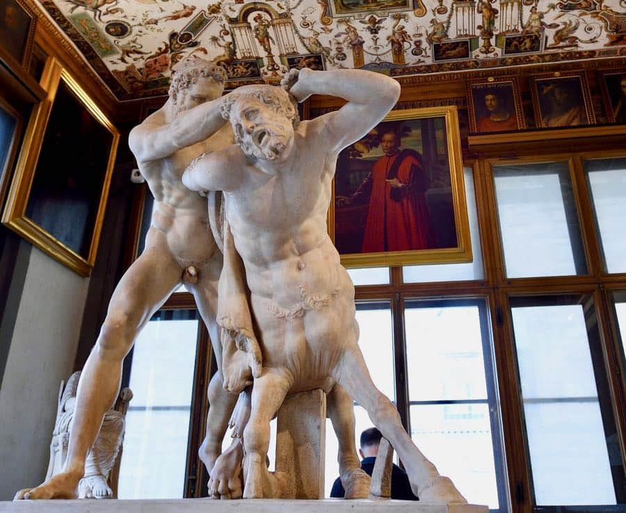 Uffizi Gallery Hercules and Nessus Sculpture