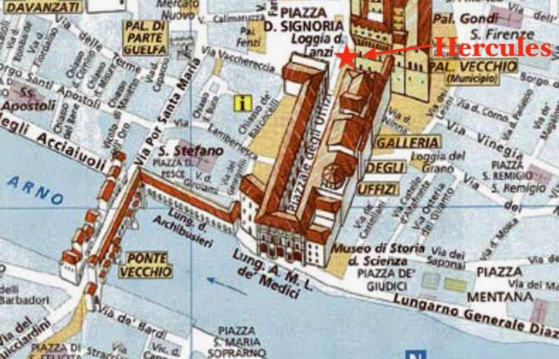 Uffizi Gallery Map