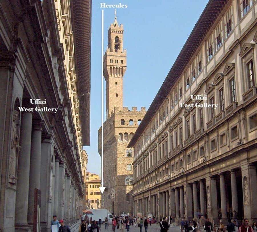 Uffizi Gallery next to Palazzo Vecchio