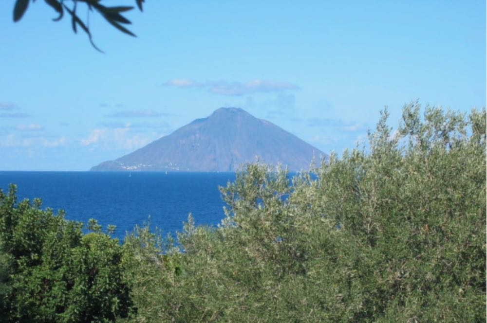 View from Isole Eolie Stromboli Island