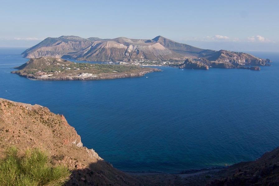 Vulcano view from Lipari Aeolian Islands