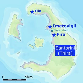 Imerovigli Santorini Map
