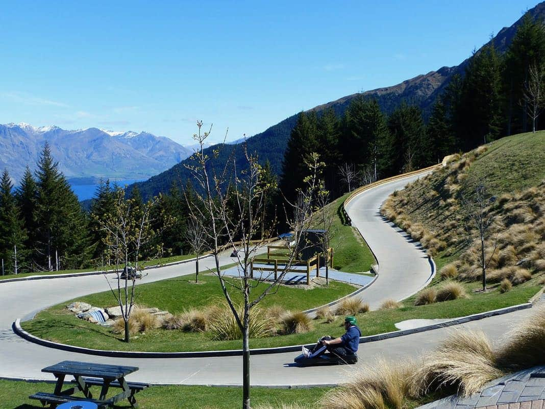 skyline luge Bobs Peak Queenstown NZ