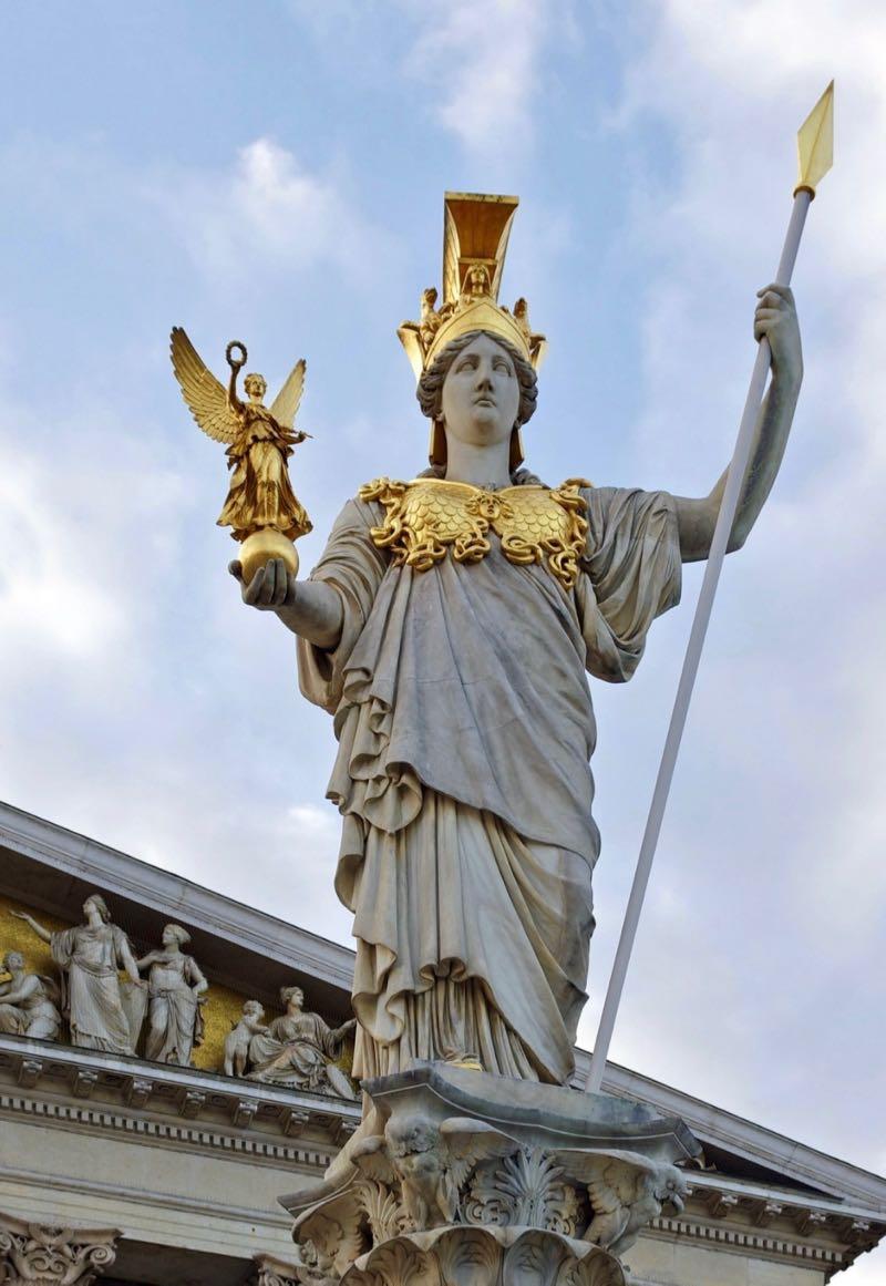 Austrian Parliament Athena Statue
