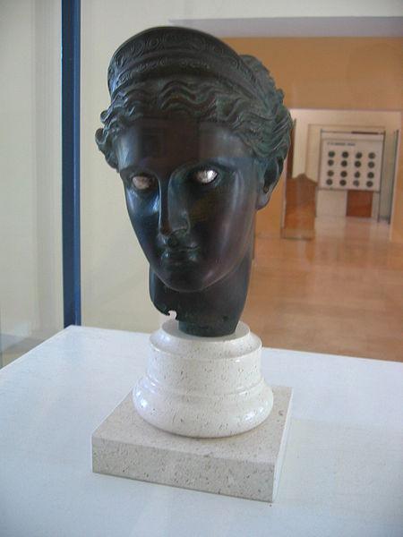 Bust of the Goddess Artemis Vis Museum-Croatia