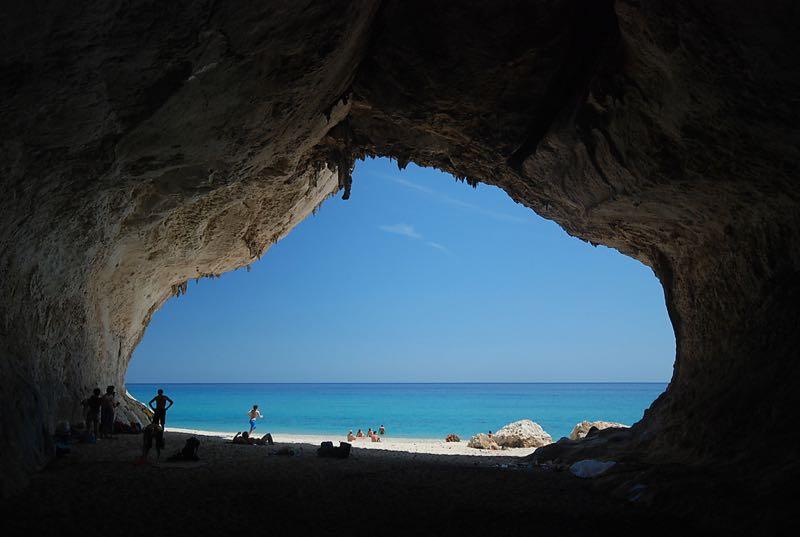 Inside Cave Cala Luna Sardinia