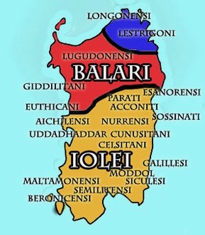 Iolei Sardinia Map