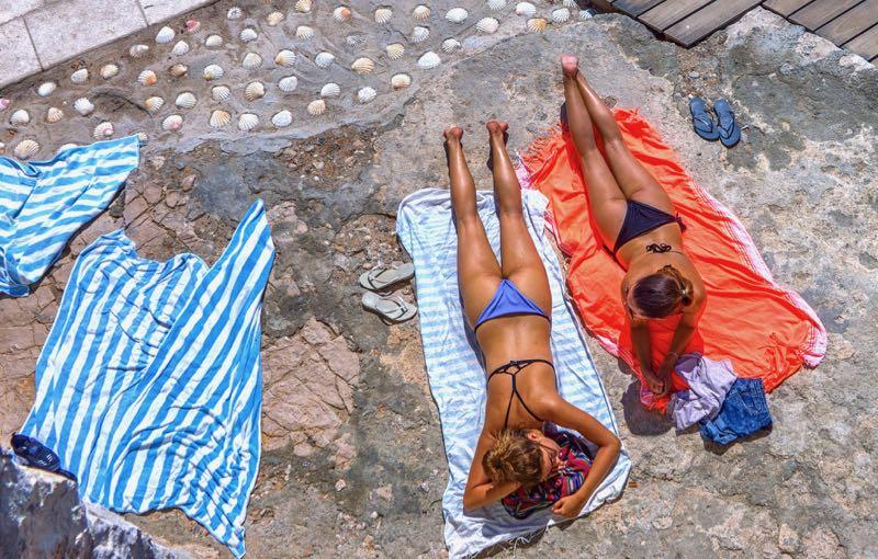 Sunbaking in Hvar Croatia