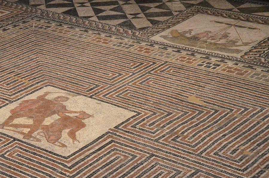 Theseus Mosaic Kunsthistorisches Museum Vienna