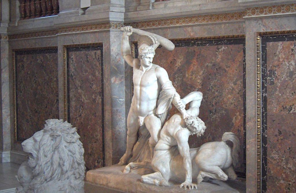 Theseus slays the centaur Vienna Greek Mythology