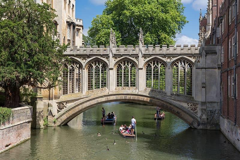 Bridge of Sighs St John's College Cambridge UK