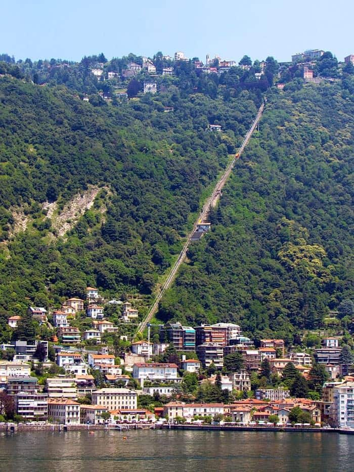 Como Brunate funicular Lake Como Italy