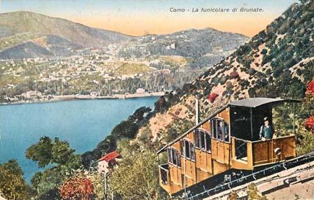 Como Brunate funicolar 1929 Italy