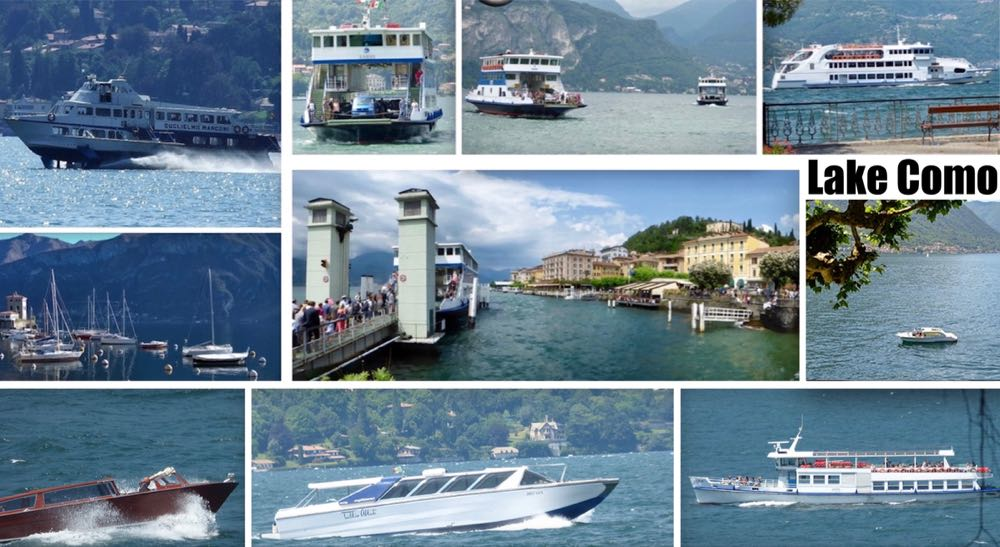 Ferries Boats Hydrofoil on Lake Como