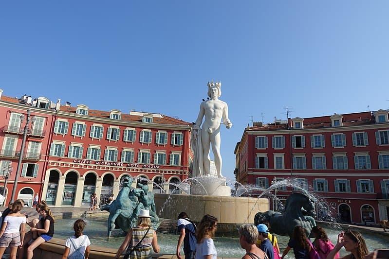 Fontaine du soleil Fountain of the Sun Apollo Nice France