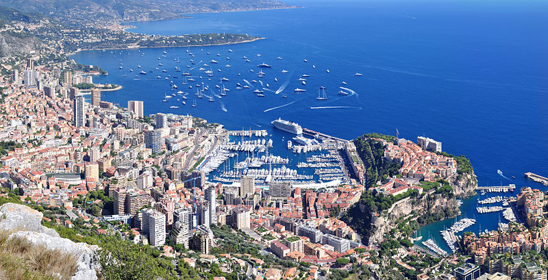 Panorama of Monaco from La Turbie