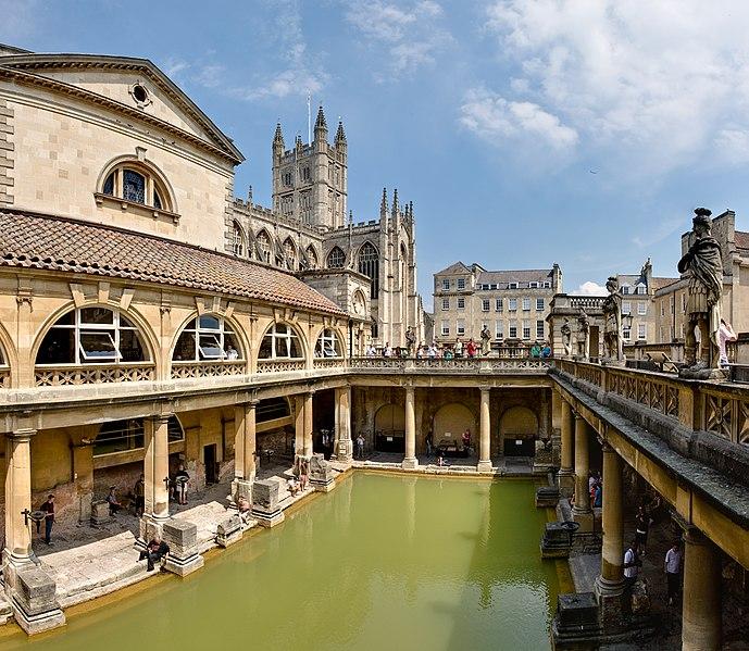 Roman Baths in Bath Spa England