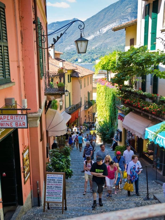 Salita Serbelloni Most walked photographed street in Bellagio