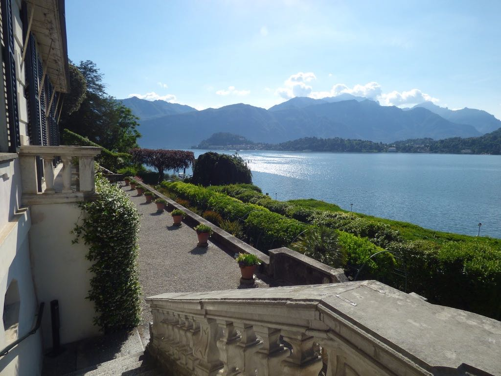 Terrace view of Lake Como Villa Carlotta