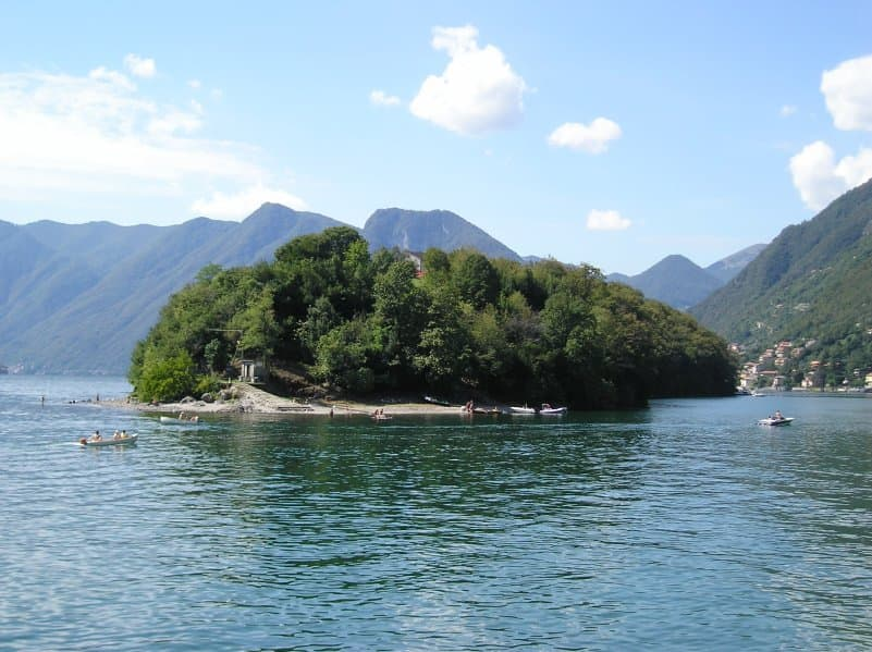 The only Lake Como Island Isola Comacina