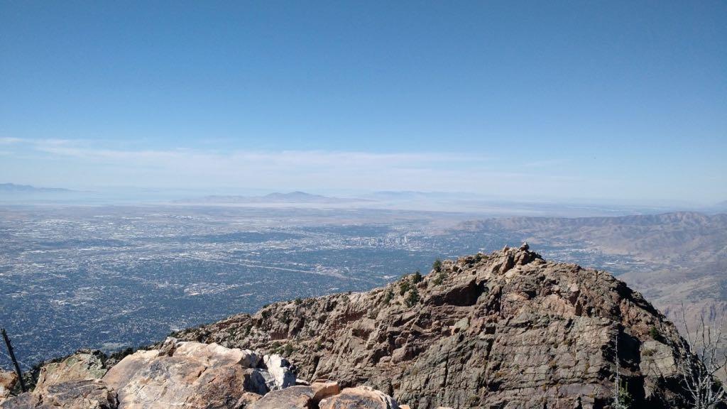 View from Mount Olympus Utah