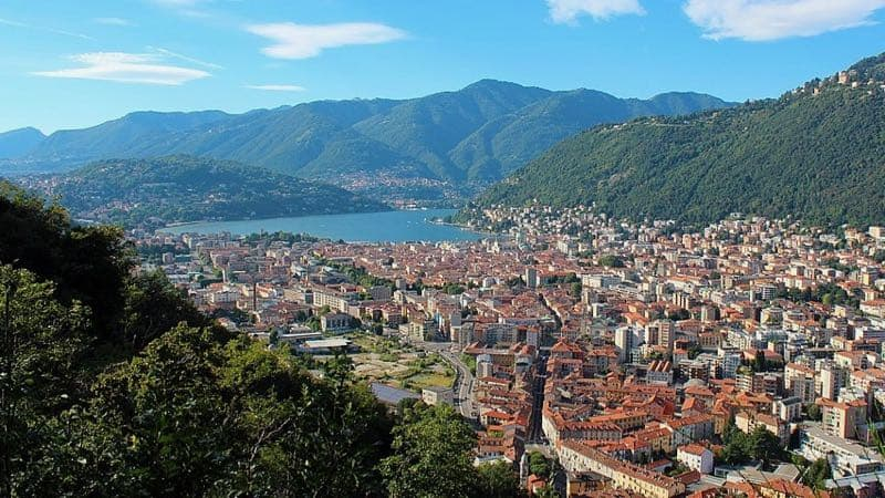 View of Como city from Baradello Castle
