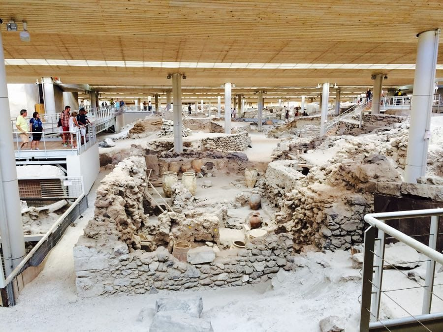 Akrotiri on the island of Santorini