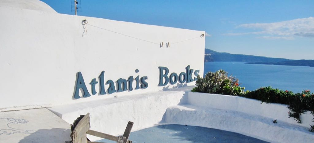 Atlantis Books in Oia Santorini