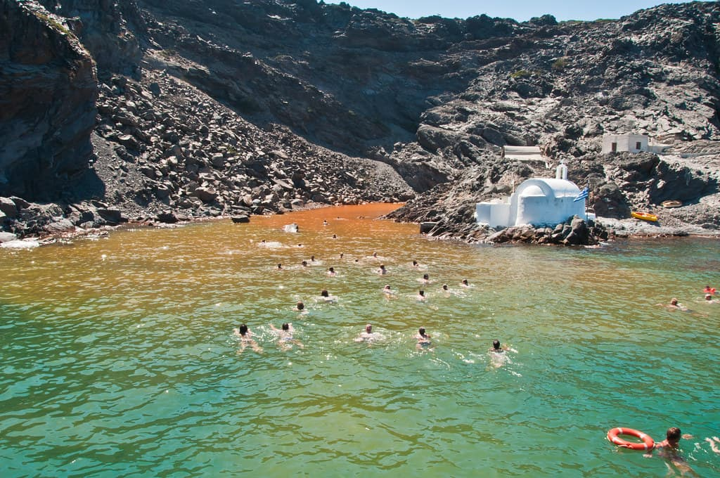 Hot Springs of Santorini Island
