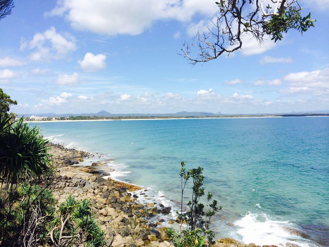 Noosa beach panoramic