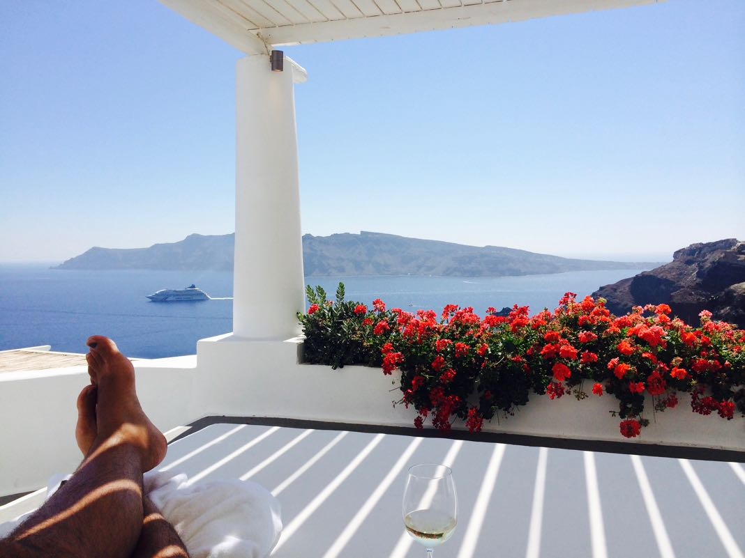 Relaxing at Katikies Hotel Santorini