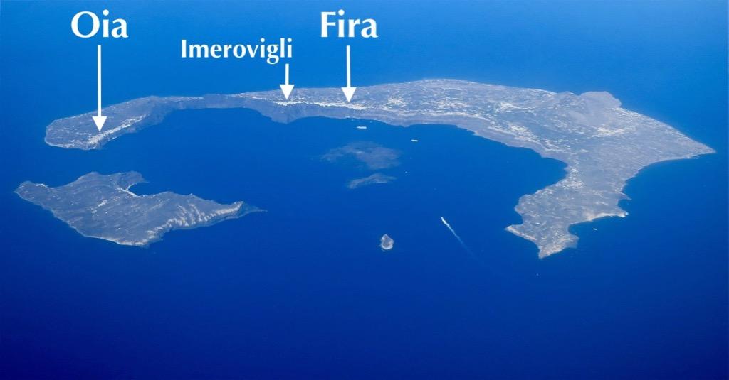 Santorini Fira Oia Imerovigli