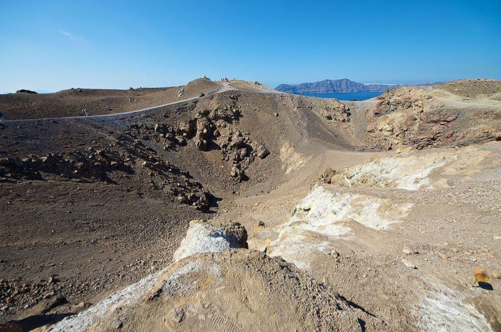 Santorini Volcano crater Nea Kameni