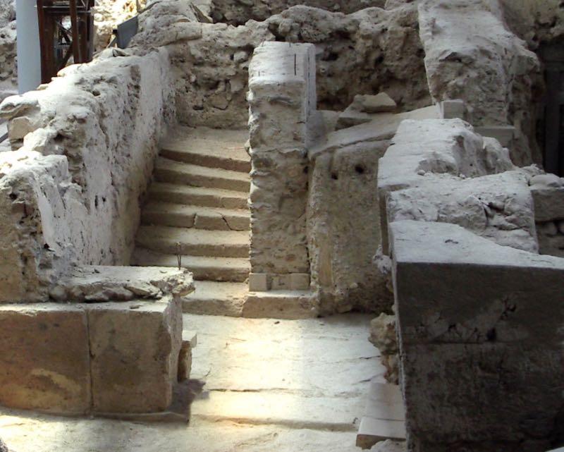 Stairway in Akrotiri
