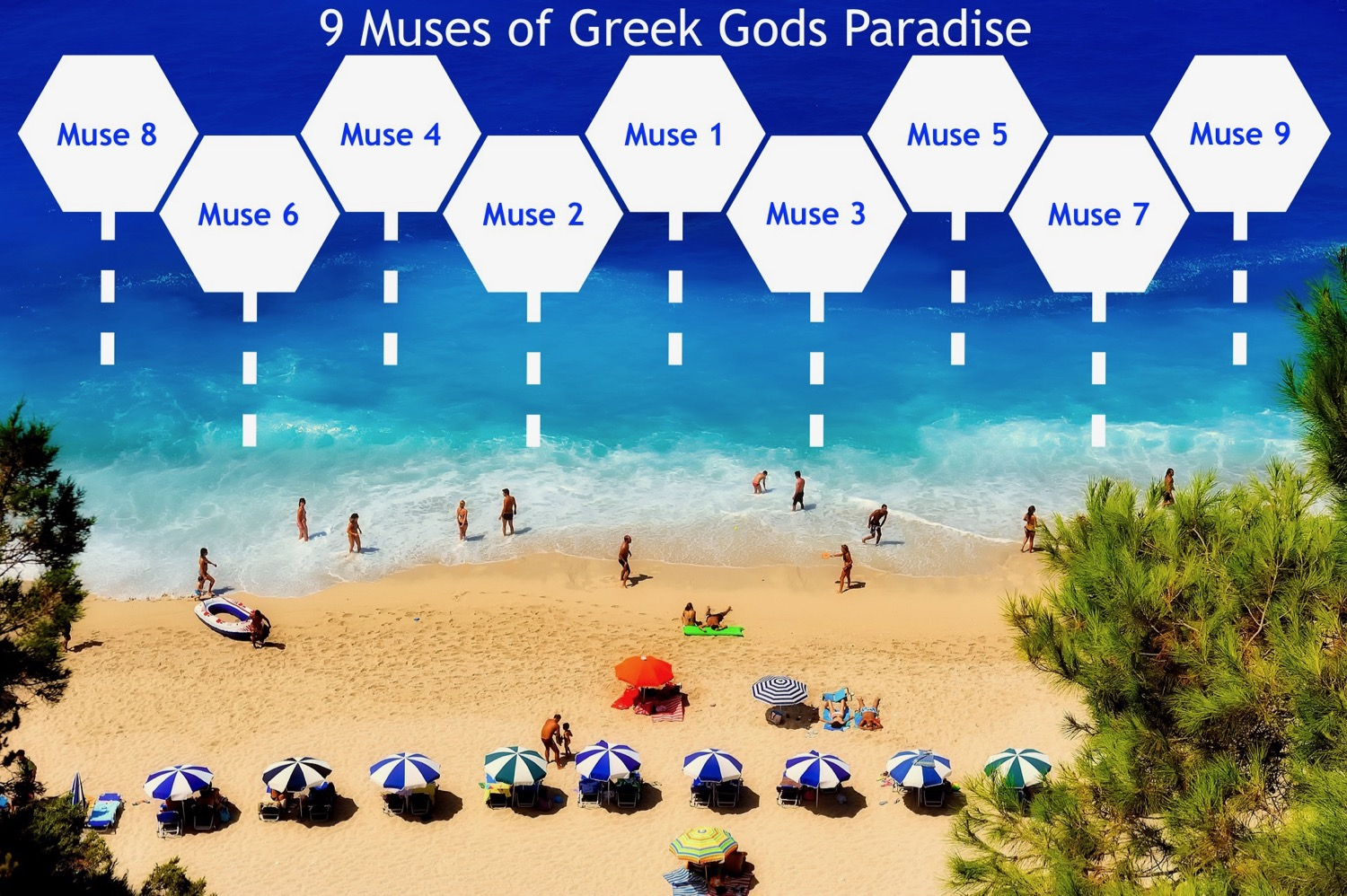9 Muses of Greek Gods Paradise