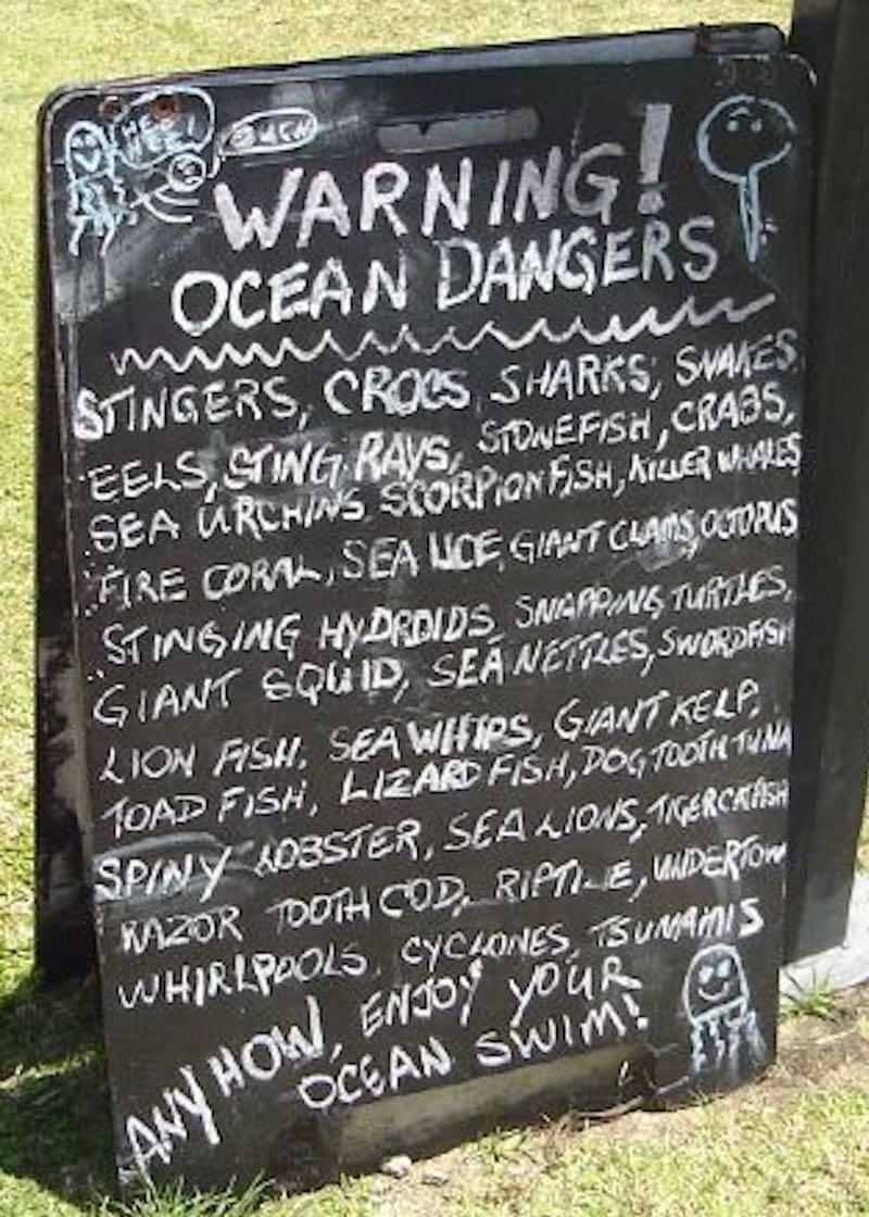 Ocean Dangers in Airlie Beach Australia