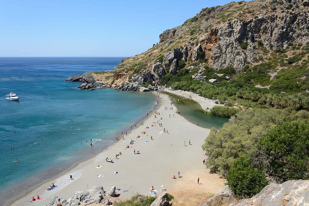 Preveli Palm Beach Crete Greece