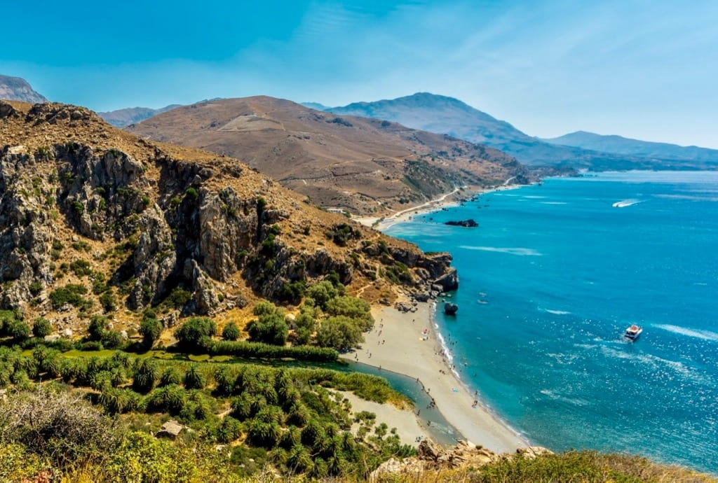 Best Beaches in Crete Preveli beach