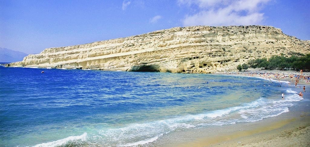 Best beach in Crete Matala beach